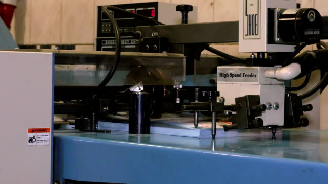 closeup of sheet feeder - lithograph stock videos & royalty-free footage