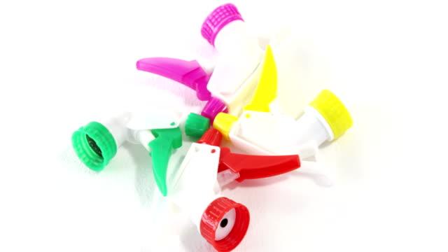Close-up of spray bottle head video