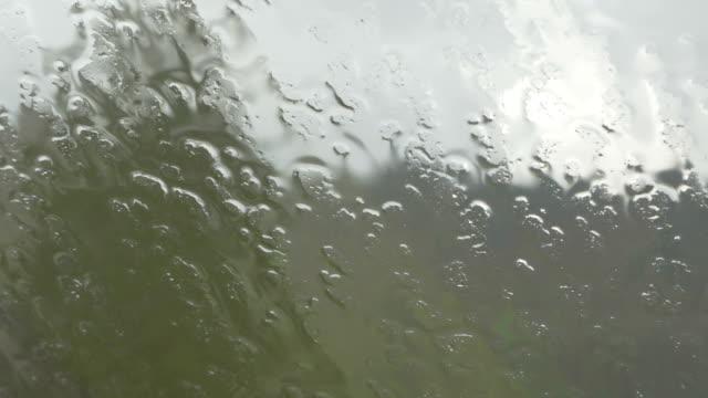 vídeos y material grabado en eventos de stock de primer plano de la lluvia que cae a torrentes en la ventana - memorial day