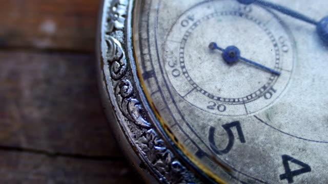 närbild av vintage pocket klockan går fort - ancient white background bildbanksvideor och videomaterial från bakom kulisserna