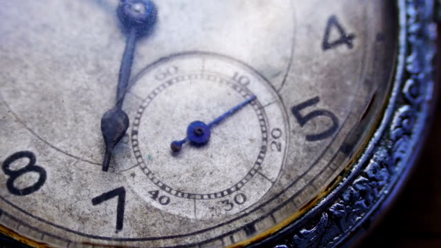 closeup of vintage pocket clock - timeline стоковые видео и кадры b-roll