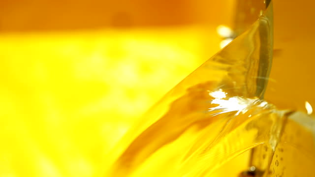 Close-up of water overflowing from yellow sink video