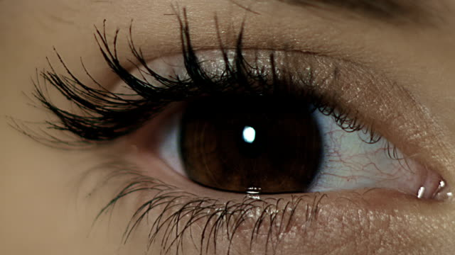 Close-up of woman's eye. video