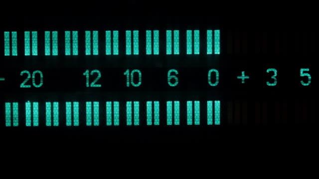 close-up, old display, two stripes, signal level lines. - analogiczny filmów i materiałów b-roll