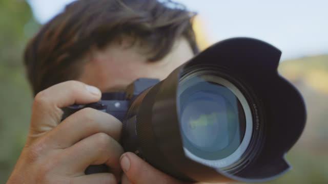 クローズ アップ写真を撮ってカメラ ビデオ