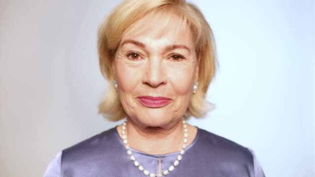 Close-up portrait of beautiful senior woman