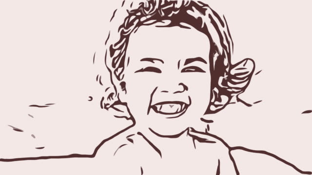 Close-up portrait of happy Asian little girl