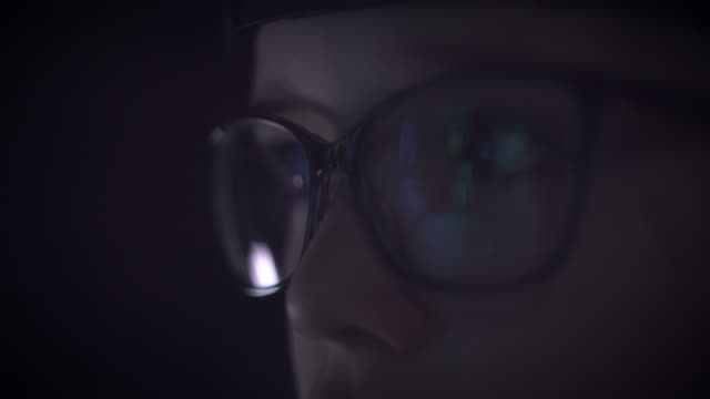 4K Close-up Reflection in Glasses of a Child Eyes video