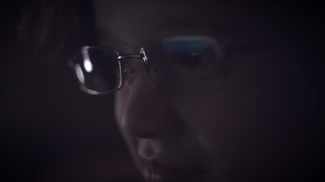 4K Close-up Rollercoaster Reflection in Glasses of a Child Eyes video