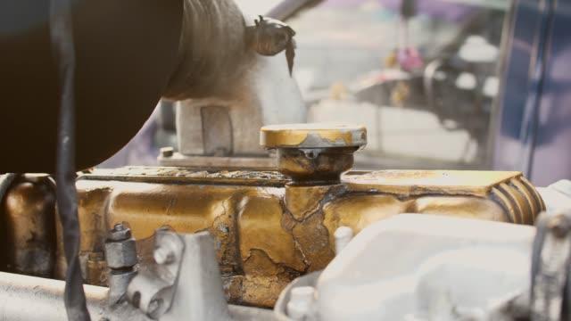 Close-up Running Truck Engine
