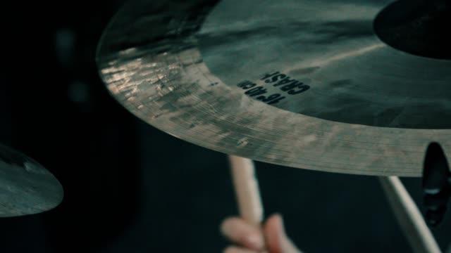Close-up shot of a crash cymbal video