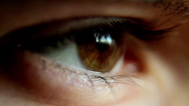 Closeup Shot Of Boy Eye video