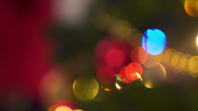 närbild skott av julbelysning - christmas decorations bildbanksvideor och videomaterial från bakom kulisserna
