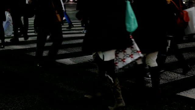 Close-up shot of people Walking in Ginza.Tokyo,Japan. video