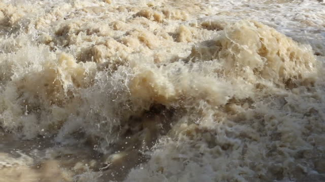 Close-up shots of turbid water. video