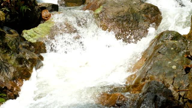 Close-up Stream of Waterfall, Sarika Waterfall,Thailand video