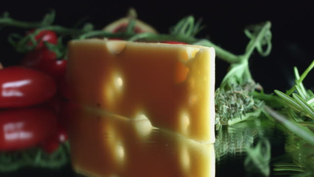 4K Close-up Swiss Cheese with Holes video