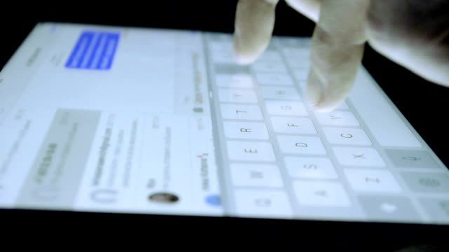 Close-up Technology Tablet Keyboard video