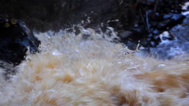 Close-up to White Bridge waterfall in Karelia video