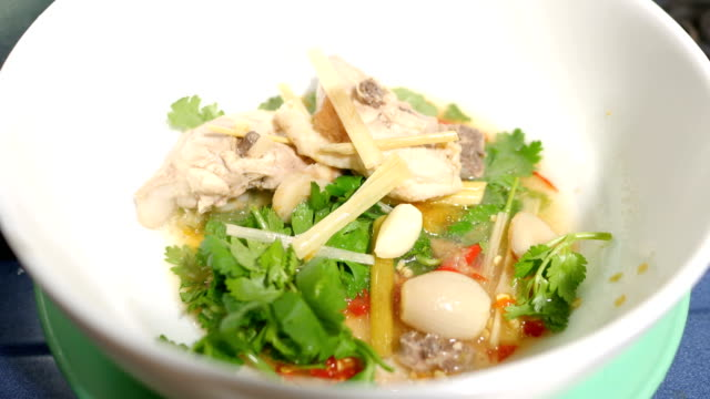 Close-up Tom Yum Soup, Thai Spicy Chicken Soup, Top Favourite Thai Food video