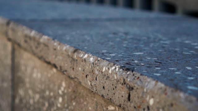 Close-up urban concrete wall