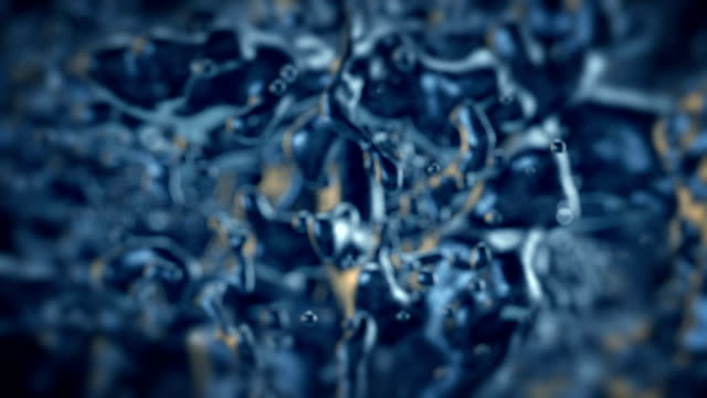 Close-up view of bacterias video