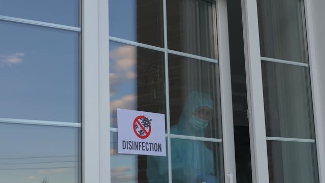 Closing a store or restaurant for disinfection video