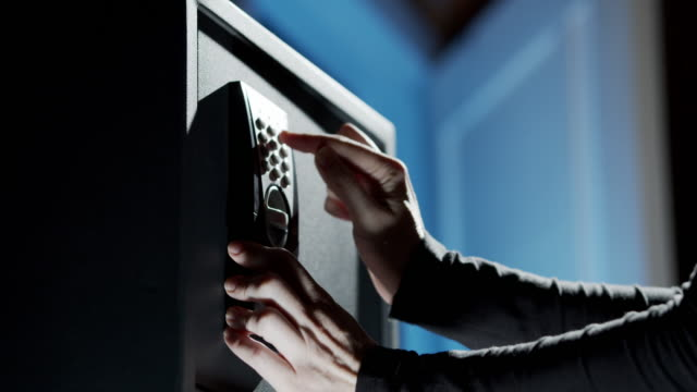 Closing documents in domestic safety deposit box