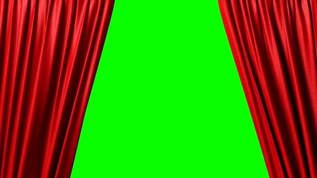 vidéos et rushes de fermeture de rideau rouge - rideaux
