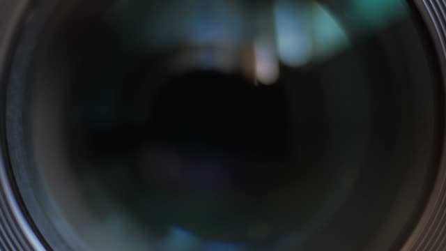Closing the camera lens eye.