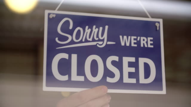 closing the store - open sign stock videos & royalty-free footage