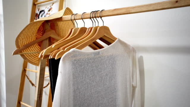 Clothes Clothes, Women Clothes Clothes, Women button down shirt stock videos & royalty-free footage