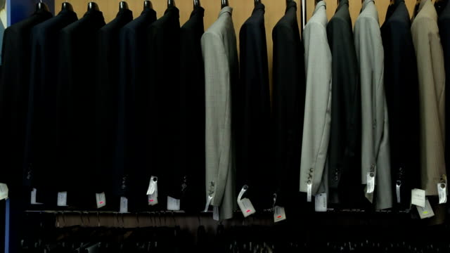 Clothes on a coat rack video