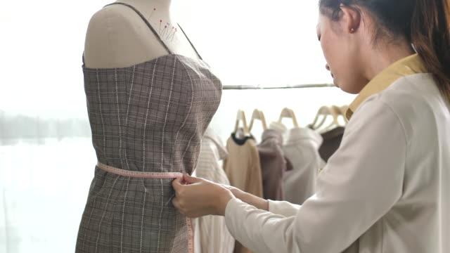 Clothing designer Working