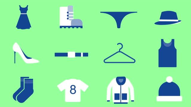 Clothing Shape elements animation. coathanger stock videos & royalty-free footage