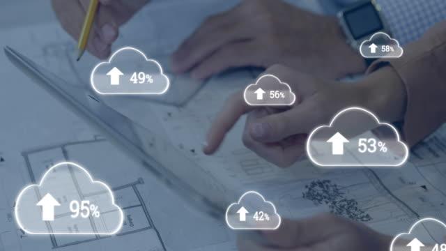 Cloud computing and numbers increasing 4k