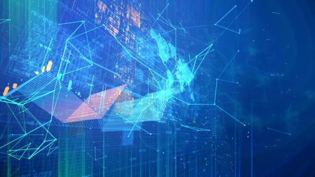 cloud computing, simulazione concettuale dei big data - disinvolto video stock e b–roll