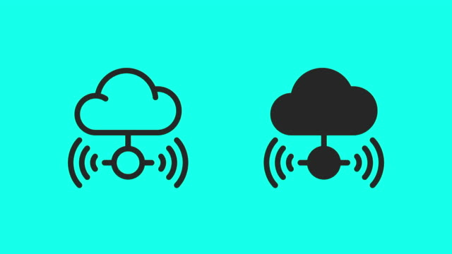Cloud Computing Icons - Vector Animate