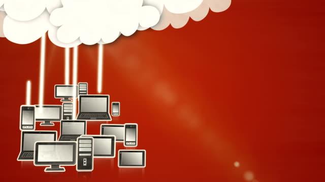 Cloud computing (red) - Loop video