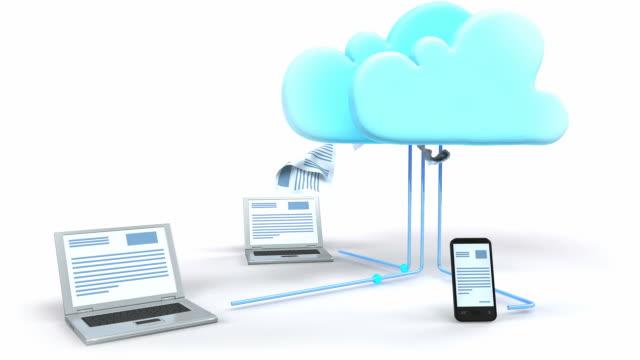 cloud computing-technologie - lagerraum stock-videos und b-roll-filmmaterial