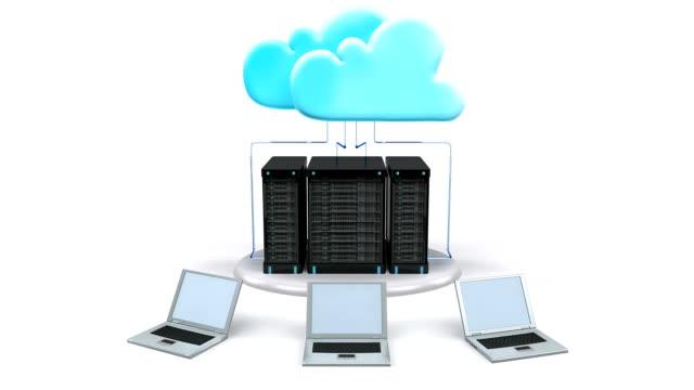 stockvideo's en b-roll-footage met cloud computing technology - uitwisselen
