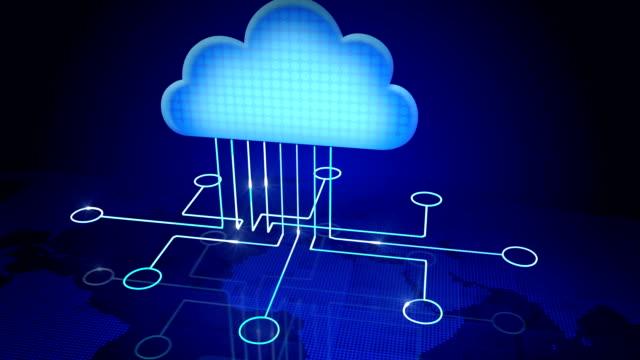 vidéos et rushes de nuage informatique - informatique en nuage