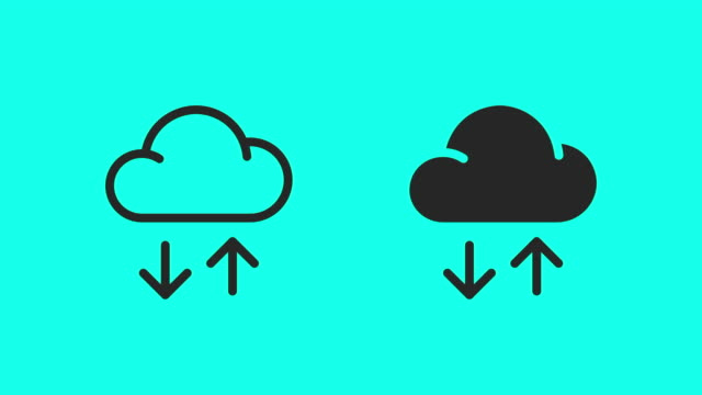 Cloud Data Transfer Icons - Vector Animate Cloud Data Transfer Icons Vector Animate 4K on Green Screen. backup stock videos & royalty-free footage