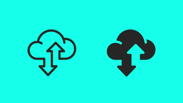 Cloud Data Transfer Icons - Vector Animate