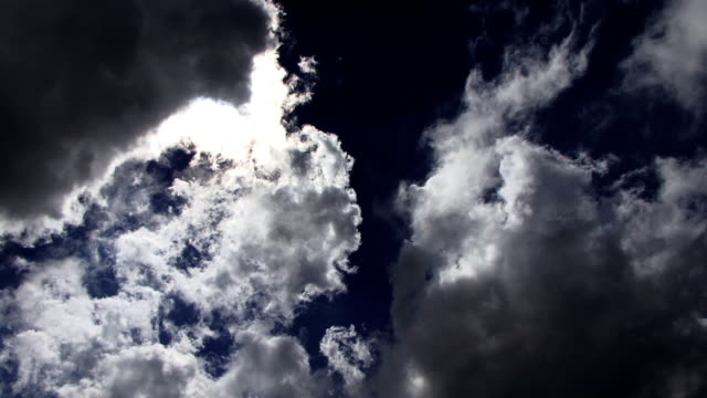 Cloud delight Clouds move quickly over the plains of Botswana daylight savings stock videos & royalty-free footage