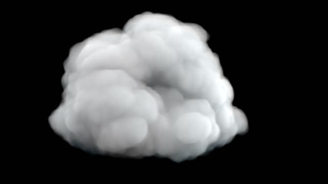 Cloud design isolated 3d illustration Cloud design isolated condensation stock videos & royalty-free footage