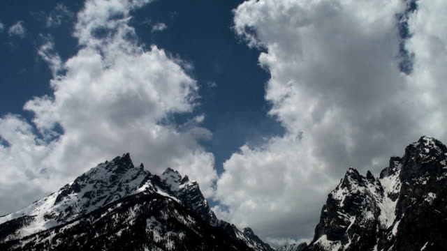 Cloud Formation Time Lapse Above the Grand Tetons video