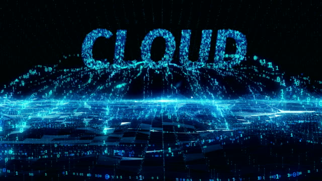 Cloud internet mobile blue digital concept 4k uhd Cloud internet mobile blue digit concept data flow collect from information digital field and move to text digital title 4k uhd backup stock videos & royalty-free footage