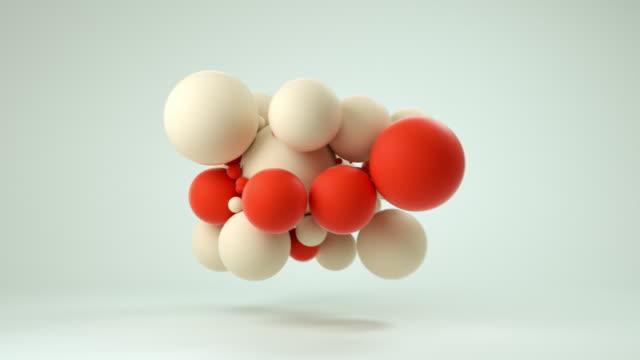 ソフトボールの雲 (赤) - box点の映像素材/bロール