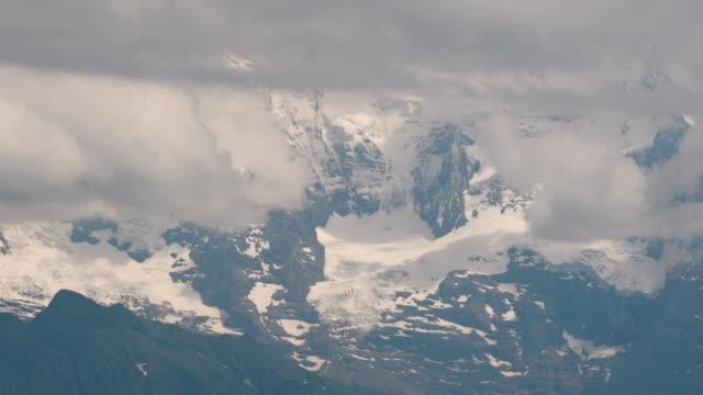 cloud over Mt. Jungfrau Alps timelapse video